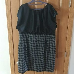 Eloquii gray and black dress